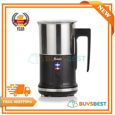 Swan Automatic 2 Layer Milk Frother & Warmer Non-Stick Coating Black- SK33020BLK