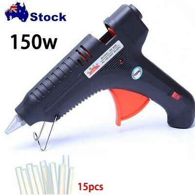150W Glue Gun Hot Melt Electric Trigger DIY Adhesive Crafts +15 FREE GLUE STICKS