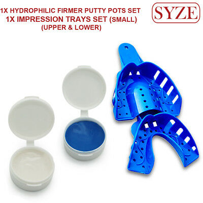 Orthodontic Hydrophillic Firmer Putty Pots and Dental Impression Trays Set