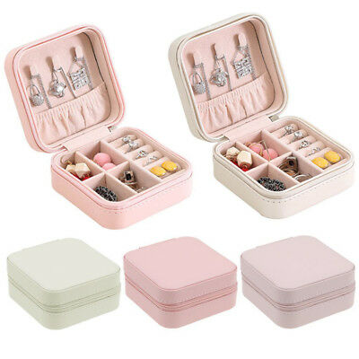 Portable Jewelry Organizer Box Holder Show Case For Ring Earring Storage Display