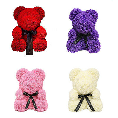 38*30cm Cute Pe Rose Bear Toy Women Girls Birthday Wedding Decoration Party Doll Gift Anniversary Valentines Day Gift Large Festive & Party Supplies Artificial & Dried Flowers