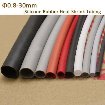 0.8mm-30mm Silicone Rubber Heat Shrink Tubing Flexible Heatshrink Tube Colored