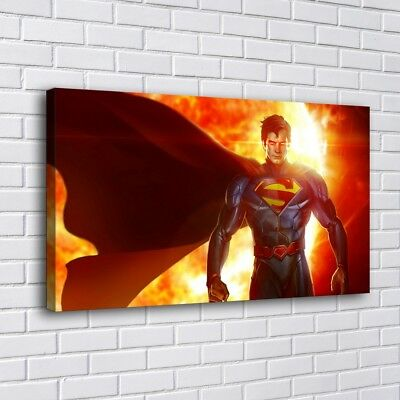 "12""x22"" Superman HD Canvas prints Painting Home Decor Picture Room Wall art"