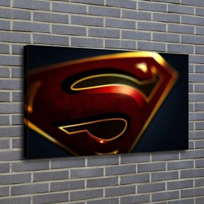 "12""x20""Superman HD Canvas print Painting Home decor Picture Room Wall art Poster"
