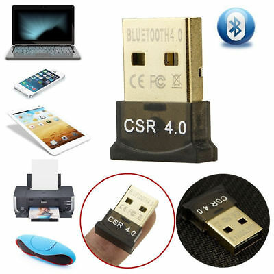 USB Bluetooth4.0 Adapter Dongle Speakers CSR wireless For PC Win 10 8 7 XP Vista