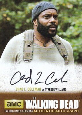 THE WALKING DEAD Autograph 2016 AMC TWD Chad L. Coleman As Tyreese Williams