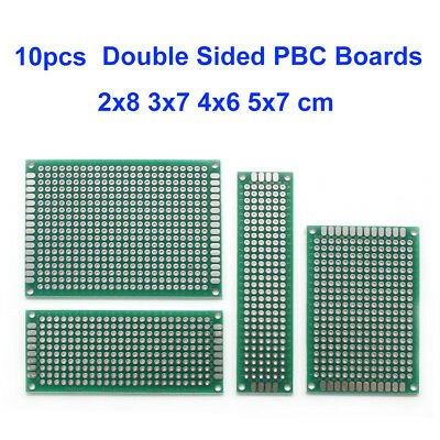 20X Double Sided PCB Proto Perf Board 2X8 3X7 4X6 5X7 Cm Sets Through Plate