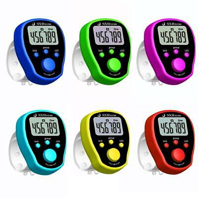 6-Digit Digital LCD Electronic Golf Finger Hand Ring Knitting Row Tally Counter