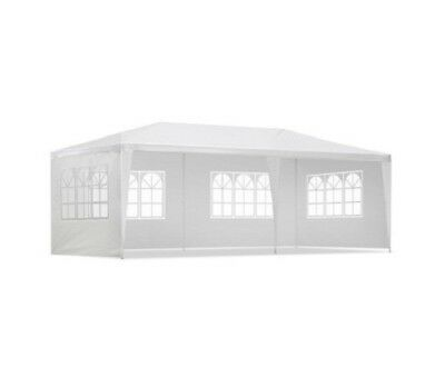 Gazebo Party Wedding Marquee Event Tent Shade Canopy White