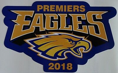 WEST COAST EAGLES PREMIERS 2018 STICKER 180x100mm