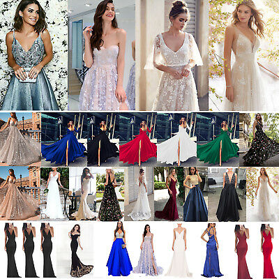 Women Formal Maxi Long Dress Prom Evening Party Cocktail Bridesmaid Wedding 6-12