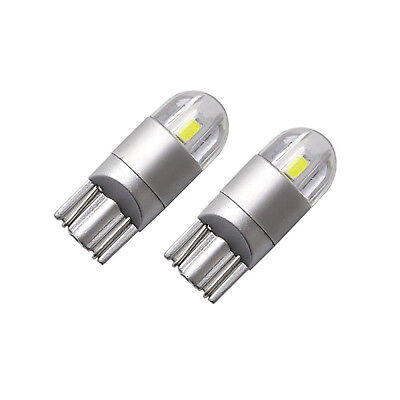 2x T10  501 Canbus LED Bulbs COB SMD 3030 Bright White Car Lights Error Free