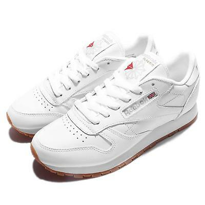 9a155c73aebd5 Reebok CL LTHR Classic Leather White Gum Women Casual Shoes Sneakers 49803
