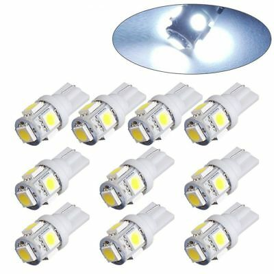 10x T10 5 SMD LED Bulbs 5050 W5W 501 Car Interior Lights Side Lamp Wedge Capless