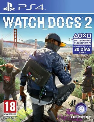 WATCH DOGS 2 para PS4 en CASTELLANO - ENTREGA HOY