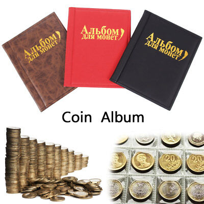 250 Coin Holder Collection Storage Collecting Money Penny Pockets Album Book Red