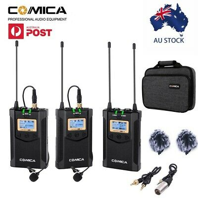 COMICA CVM-WM100 Plus UHF 48-Channels Wireless Microphone for Camera Camcorder