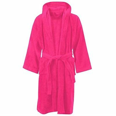 Kids Bathrobe Boys Girls 100% Cotton Towelling Dressing Gown Soft Towel Hooded
