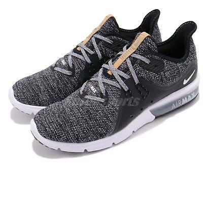separation shoes 35295 4d3f8 Nike Air Max Sequent 3 III Black White Grey Men Running Shoes Sneaker  921694-011