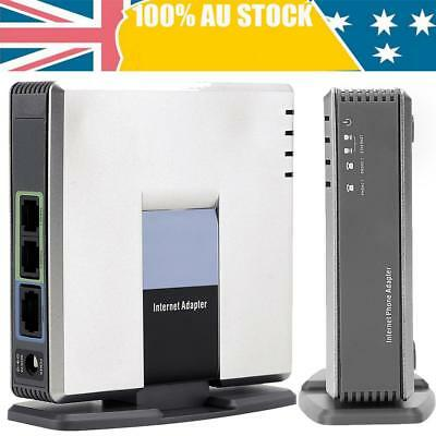 Gateway Unlocked Internet Phone service Adapter Two Voice Port Linksys PAP2T-NA