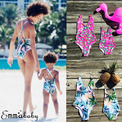 Fashion Family Matching Women Kid Baby Girls Bikini Bathing Swimwear Swimsuit