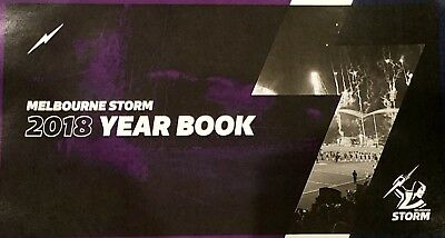 Melbourne Storm 2018 NRL Year Book New Free Post