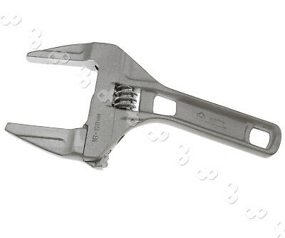 200mm Silver Ultra Mini Adjustable 18-68mm Large Openings Spanner Wrench Shank