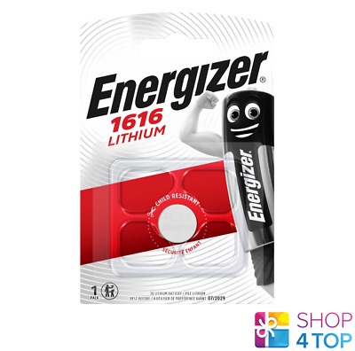 Energizer Cr1616 Lithium Battery 3V Cell Coin Button Dl1616 Exp 2026 New