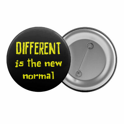 "Different Is The new Normal Badge Button 1.25"" 32mm Asperger's Syndrome Slogan"