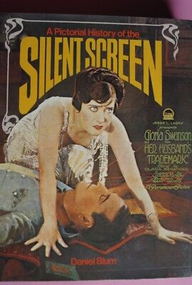 R70502 Pictorial History of the Silent Screen  - Hardcover – 1973