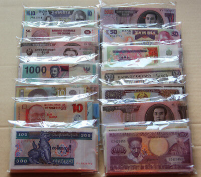 NEW Paper Money 100 World Banknotes UNC high quality , All Genuine