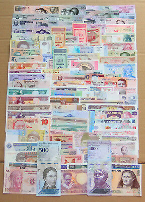 All Genuine 100 PCS different Banknotes paper money from 30 Countries