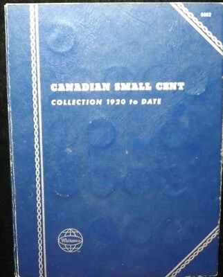 Complete  1920 - 1972 Set of Canadian Small Cents  In Whitman Album   Circulated