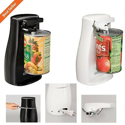Automatic Electric Can Opener W/ Knife Sharpener Durable Extra Tall Kitchen Tool