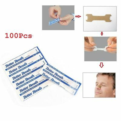 100 Free Better Breath Nasal Strips Right Easy Stop Anti Snoring Sleeping Aid
