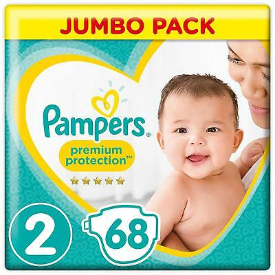 Pampers Premium Protection Windeln New Baby, Gr. 2 Mini (4-8 kg), Jumbopack