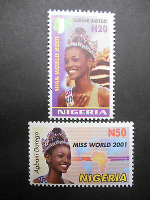 Nigeria 2006 Miss Nigeria, Agbani Darego, crowned Miss World 2001 SG 844-5 MNH