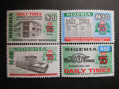 "Nigeria 2001 75th Aniversary of ""The Daily Times of Nigeria"" set SG 773-6 MNH"