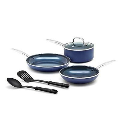 Blue Diamond Pan CC001951-001 Cookware-Set, Blue  Assorted Sizes