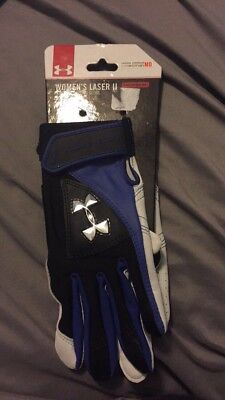 NWT Womens Under Armour Heat Gear Laser 2 Medium Softball Batting Glove