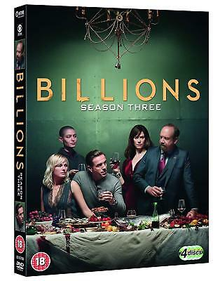 Billions Season 3 DVD 2018 Brand New Sealed Boxed Set FAST FREE Post UK Region 2