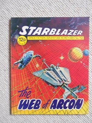 Starblazer Space Fiction Adventure In Pictures Comic No.12  1979