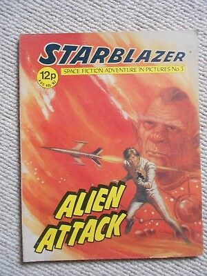 Starblazer Space Fiction Adventure In Pictures Comic No.3 1979