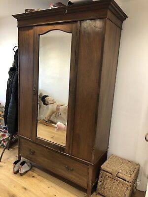 Stunning wooden wardrobe- lovely vintage piece