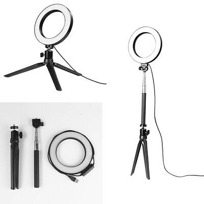 NEW LED 3 Modes 40W Dimmable Studio Camera Ring Light Photo Phone Video Black