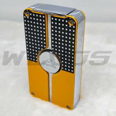 COHIBA Classic 3 TORCH JET FLAME CIGAR CIGARETTE Metal LIGHTER PUNCH Yellow USA