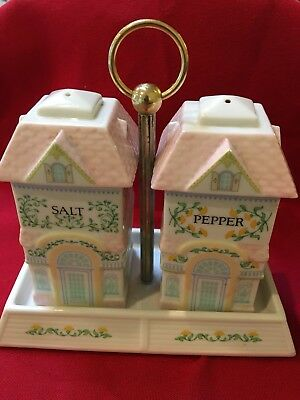1991 The LENOXVillage Collection Salt & Pepper Set w/Caddy