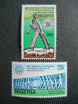 Nigeria 1986 Institue of International Affairs SG 537-8 MNH Bronze Sculpture