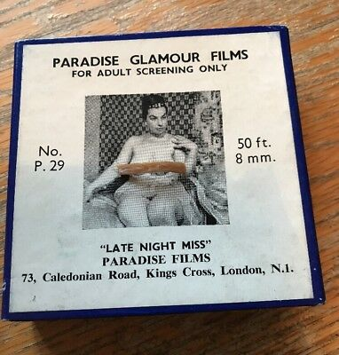 "PARADISE GLAMOUR FILMS.8mm B&W.P29 ""LATE NIGHT MISS"""