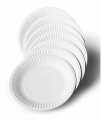 """Pack Of 100 White Disposable Paper Plates 7"""" / 9"""" perfect for BBQ and parties"""